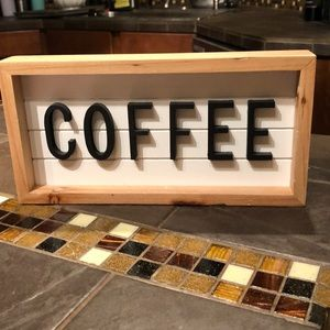 New COFFEE Marquis sign